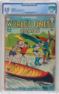 World's Finest Comics #53 (DC, 1951) CBCS Restored GD 2.0 Off-white to white pages