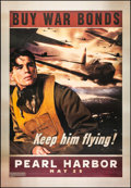 "Movie Posters:War, Pearl Harbor (Buena Vista, 2001). Bus Shelter (48"" X 70"") ""Keep HimFlying"" Advance. War.. ..."