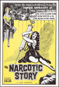 "Movie Posters:Exploitation, The Narcotic Story (Jolf, 1958). One Sheet (27"" X 41"").Exploitation.. ..."