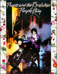 """Purple Rain (Warner Brothers, 1984). Album Bus Shelter (46"""" X 59.5""""). Rock and Roll"""