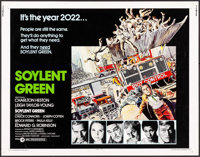 "Soylent Green (MGM, 1973). Half Sheet (22"" X 28"") & Mini Lobby Cards (4) (8"" X 10""). John So..."