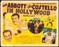 "Movie Posters:Comedy, Abbott and Costello in Hollywood (MGM, 1945). Half Sheet (22"" X28""). Comedy.. ..."