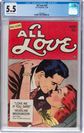 Golden Age (1938-1955):Romance, All Love #29 (Ace, 1949) CGC FN- 5.5 Off-white to white pages....