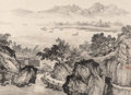 Asian:Chinese, Various Chinese Artists (20th Century). Six Paintings. Inkand color on paper. 37-1/2 inches high x 17-1/4 inches wide (...(Total: 6 Items)