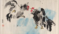 Asian:Chinese, Various Chinese Artists (20th Century). Four Paintings. Inkand color on paper. 53-1/4 x 11-3/4 inches (135.3 x 29.8 cm)...(Total: 4 Items)