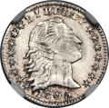 Early Half Dimes, 1795 H10C V-5, LM-8, R.3, MS63 NGC....