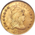 Early Eagles, 1799 $10 Small Obverse Stars, BD-7, R.3, MS65 NGC....