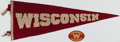 Football Collectibles:Others, Vintage University of Wisconsin Pennant.. ...