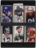 "Autographs:Post Cards, 1998 Football Hall of Fame ""Ron Mix"" Platinum Signature SeriesSigned Card Complete Set with Original Binder (116)."