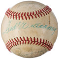 Autographs:Baseballs, Baseball Greats Multi-Signed Baseball (10 Signatures) with Williams & Lasorda. . ...