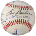 Autographs:Baseballs, 1960-69 Hall of Fame Multi-Signed Baseball (8 Signatures) with Faber, McCarthy, & Williams.. ...