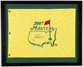 "Golf Collectibles:Autographs, Jack Nicklaus Signed ""2007 Masters"" Flag. . ..."