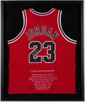 Autographs:Jerseys, Michael Jordan Signed Chicago Bulls Stat Jersey. . ...