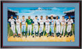 Autographs:Others, 1988 500 Home Run Hitters Multi-Signed Lithograph. . ...
