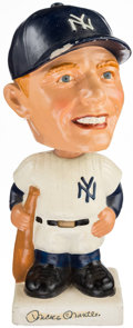 Baseball Collectibles:Hartland Statues, 1962 Mickey Mantle Nodder with Original Box. . ...