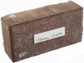 Autographs:Others, 1923-2008 Yankee Stadium Brick with Mickey Mantle Signed Cut.. ...
