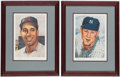 Autographs:Photos, 1953 Topps Bob Feller & Whitey Ford Limited Edition Signed Lithograph Lot of 2.. ... (Total: 2 item)
