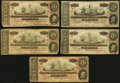 Confederate Notes, T67 $20 1864. Six Examples.. ... (Total: 5 notes)