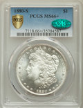 Morgan Dollars, 1880-S $1 MS66+ PCGS Secure. CAC. PCGS Population: (11140/2525). NGC Census: (11923/3516). MS66. Mintage 8,900,000....