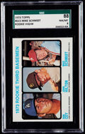 Baseball Cards:Singles (1970-Now), 1973 Topps Mike Schmidt - Rookie 3rd Basemen #615 SGC 88 NM/MT 8....