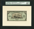 Canadian Currency, Bridgetown, Barbados-The Royal Bank of Canada $5 1.3.1938 Ch.#630-32-02FP and #630-32-02BP Front and Back Proofs.. ... (Total: 2notes)