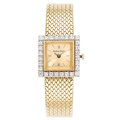 Estate Jewelry:Watches, Mathey Tissot Lady's Diamond, Gold Watch. ...