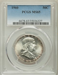 Franklin Half Dollars, 1960 50C MS65 PCGS. PCGS Population: (1062/42). NGC Census: (1250/30). CDN: $60 Whsle. Bid for problem-free NGC/PCGS MS65. ...