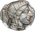 Ancients:Greek, Ancients: ATTICA. Athens. Ca. 440-404 BC. AR tetradrachm (23mm, 17.22 gm, 5h). NGC Choice MS ★ 5/5 - 5/5....