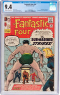 Silver Age (1956-1969):Superhero, Fantastic Four #14 (Marvel, 1963) CGC NM 9.4 Off-white to white pages....