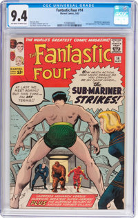 Fantastic Four #14 (Marvel, 1963) CGC NM 9.4 Off-white to white pages