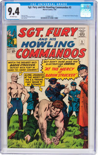 Sgt. Fury and His Howling Commandos #5 (Marvel, 1964) CGC NM 9.4 Off-white pages
