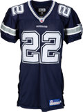 Football Collectibles:Uniforms, 2002 Emmitt Smith Game Worn Dallas Cowboys Jersey - Photo Matched to 9/8 vs. Texans (1st Half).. ...