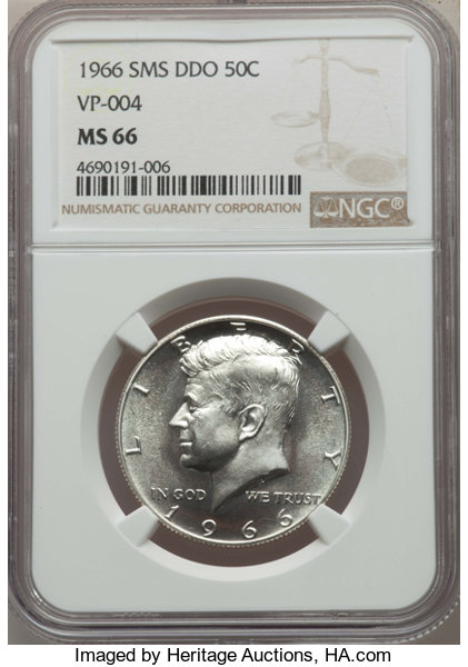 1964-D/D 50C FS-501, MS62 NGC  Rank #83 of the 100 Greatest