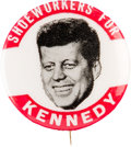 Political:Pinback Buttons (1896-present), John F. Kennedy: Shoeworkers Pin....