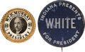 Political:Pinback Buttons (1896-present), William Murray and George White: Hopeful Buttons.... (Total: 2 Items)