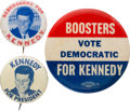 Political:Pinback Buttons (1896-present), John F. Kennedy: Picture and Slogan Pins....