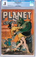 Golden Age (1938-1955):Science Fiction, Planet Comics #23 (Fiction House, 1943) CGC PR 0.5 Cream tooff-white pages....