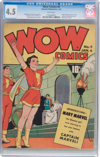 Wow Comics #9 (Fawcett Publications, 1943) CGC VG+ 4.5 White pages