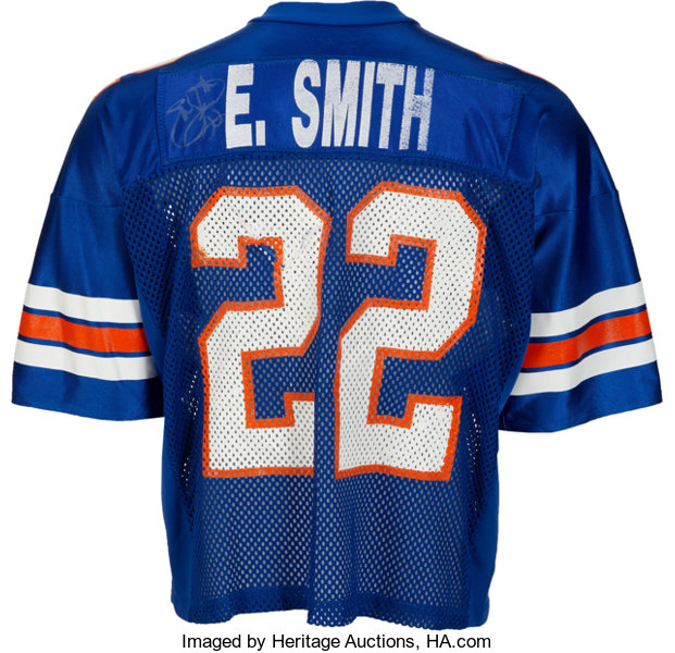 official photos 5b0a1 cb119 1989 Emmitt Smith Game Worn & Signed University of Florida ...