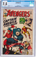 Silver Age (1956-1969):Superhero, The Avengers #4 (Marvel, 1964) CGC VF- 7.5 Off-white pages....