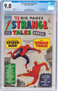 Silver Age (1956-1969):Superhero, Strange Tales Annual #2 (Marvel, 1963) CGC VF/NM 9.0 Off-white towhite pages....
