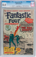 Silver Age (1956-1969):Superhero, Fantastic Four #13 (Marvel, 1963) CGC VF 8.0 Cream to off-whitepages....