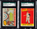 Baseball Cards:Lots, 1958 & 1959 Topps Mickey Mantle SGC Graded Pair (2)....