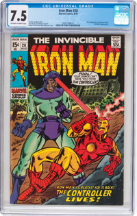 Iron Man #28 (Marvel, 1970) CGC VF- 7.5 Off-white to white pages