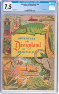 Golden Age (1938-1955):Miscellaneous, Adventure in Disneyland nn (Walt Disney Productions, 1955) CGC VF- 7.5 Cream to off-white pages....