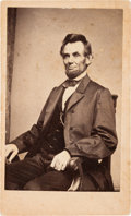 Photography:CDVs, Abraham Lincoln: Carte-de-Visite O-83....