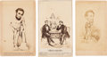 Photography:CDVs, Abraham Lincoln and George B. McClellan: Trio of Cartoon Cartes-de-Visite.... (Total: 3 Items)