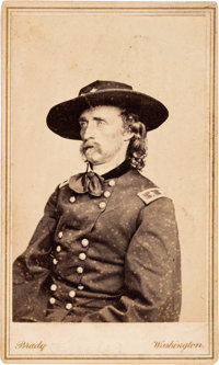 George Armstrong Custer: Carte-de-Visite by Brady K-74