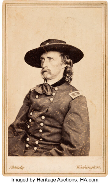 PhotographyCDVs George Armstrong Custer Carte De Visite By Brady K