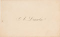 Political:Presidential Relics, Abraham Lincoln: Personal Calling Card....